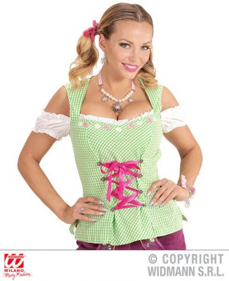 Adult Bavarian Green Blouse T-Shirt Fancy Dress